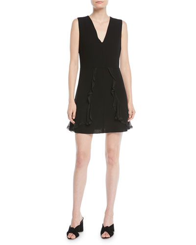 3623e6ba8b68 Quick Look. See by Chloe · V-Neck Sleeveless A-Line Mini Dress w/ Ruffled  Trim. Available in Black