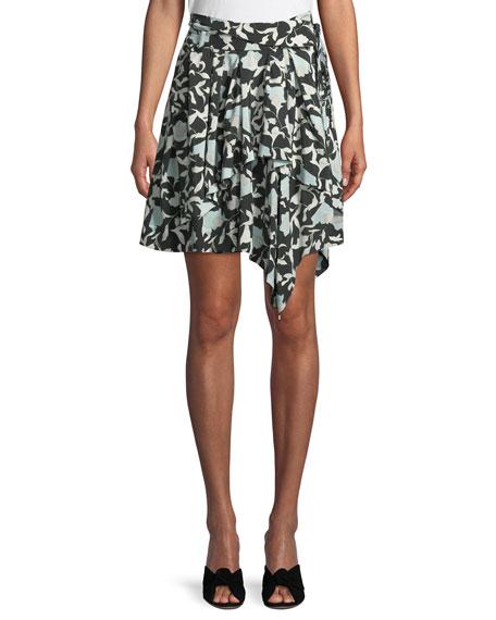 Christian Wijnants Sadira Floral Embroidered Asymmetric Skirt