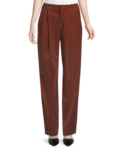 525e1b303b Quick Look. A.L.C. · Tori Pleated Corduroy Wide-Leg Pants