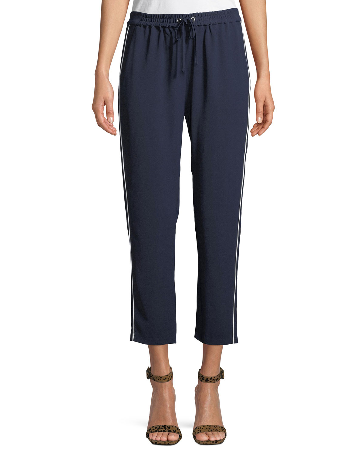 Cassius Side-Stripe Combo Track Pants