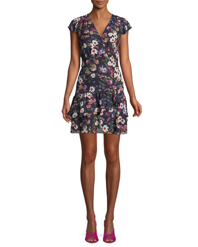 50feffdd9822 Quick Look. Parker · Sloane Ruffle Floral-Print Short Dress