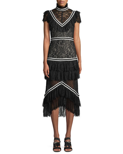 Annetta Pleated Tier Ruffle Dress