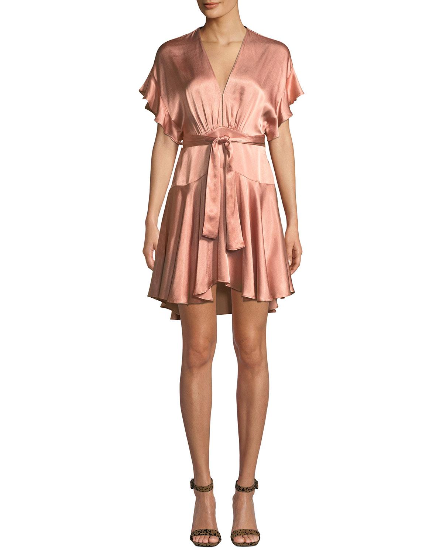 Daria Satin Dolman Mini Dress