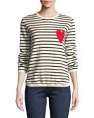 Chinti And Parker Breton Striped Cashmere Intarsia Sweater