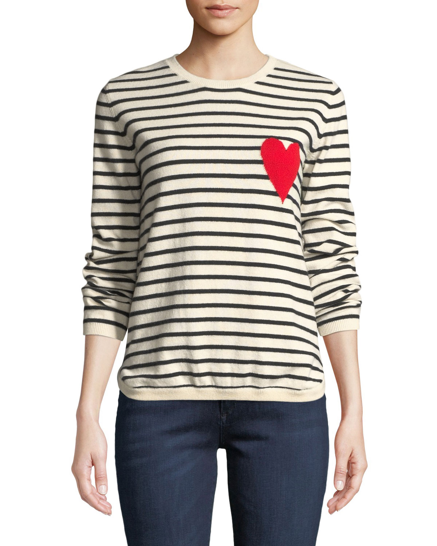 CHINTI & PARKER Breton Striped Cashmere Intarsia Sweater in Multi Pattern