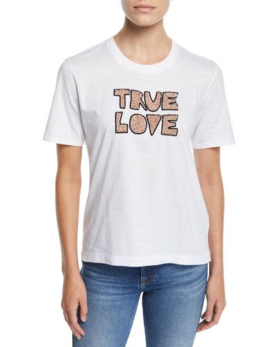 Alex Sequin True Love Cotton Tee