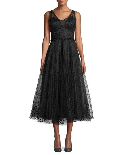 Sweetheart Neckline A Line Dress Neiman Marcus