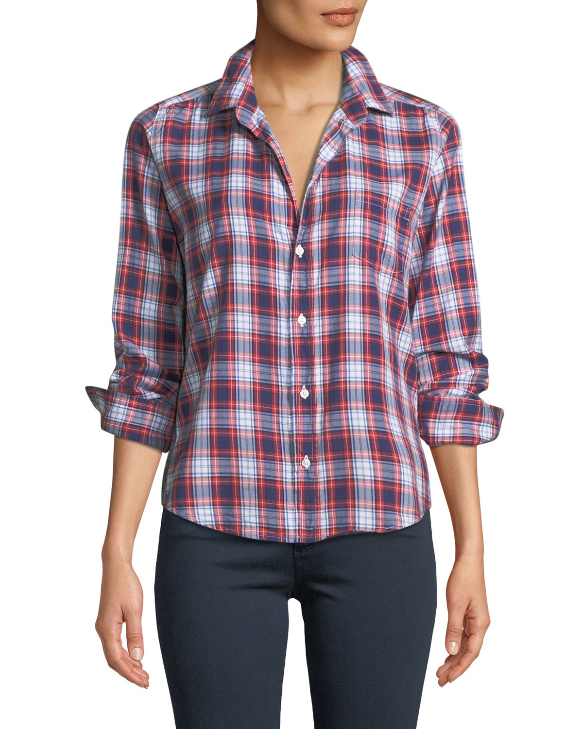 Barry Long-Sleeve Plaid Button-Front Shirt