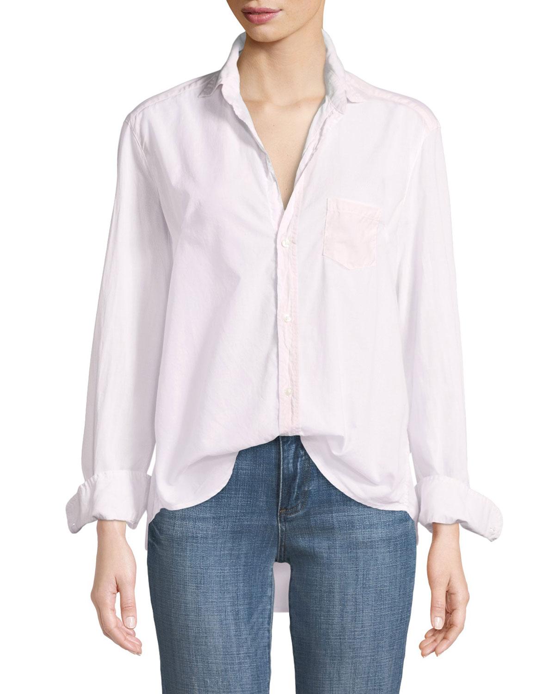 Eileen Button-Front Shirt, Light Pink