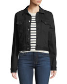 7 for all mankind Cropped Denim Jacket with