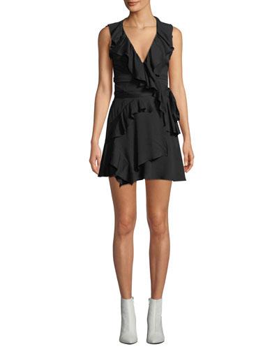 9f43e18b90ed3 Quick Look. Iro · People Sleeveless Ruffle Mini Dress