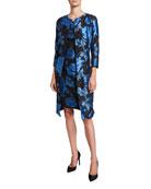 Albert Nipon Two-Piece Floral Jacquard Dress & Topper