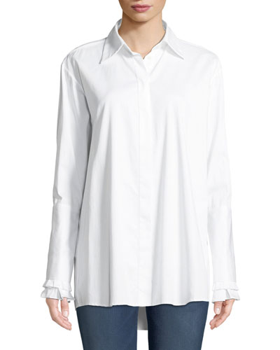 Everlasting Love Cotton Button-Front Shirt