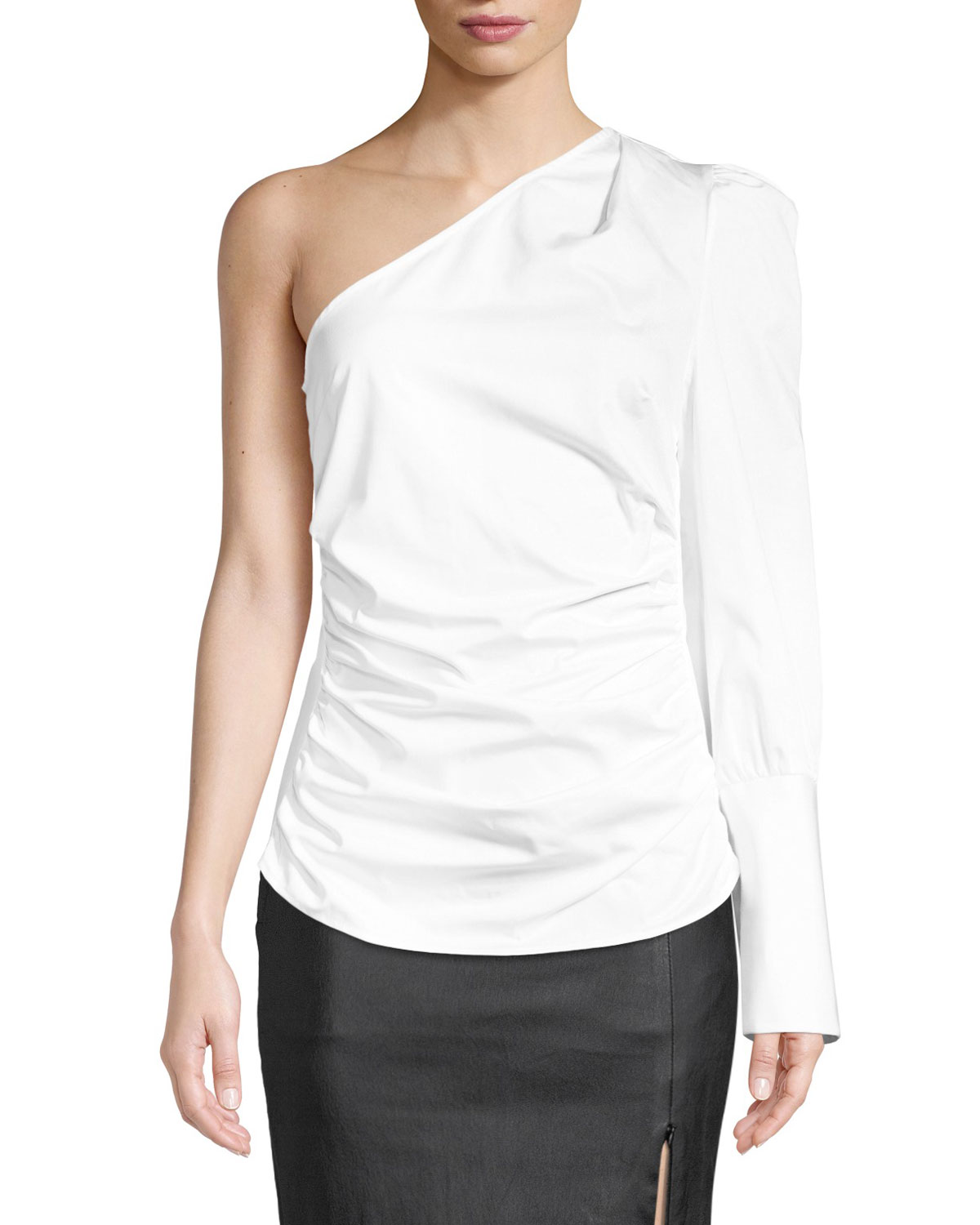 MAGGIE MARILYN A LITTLE AFTER TEN ONE-SHOULDER TOP