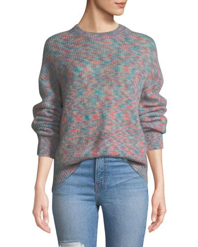 Version Mohair-Blend Crewneck Pullover Sweater