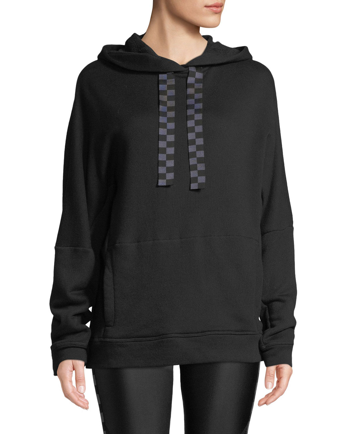 ALALA Shift Active Pullover Hoodie in Black Pattern