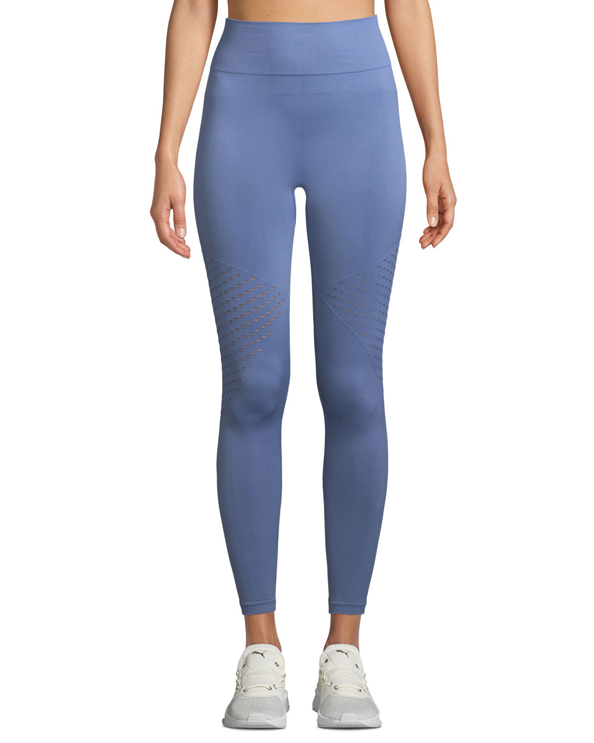 Eastham Perforated Tight Leggings in Blue