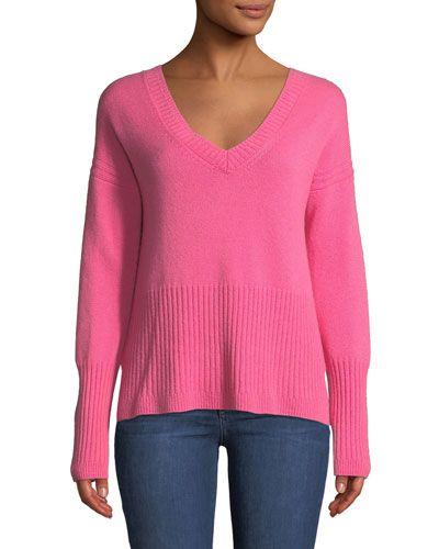 0ba8e41031a1b V Neck Cashmere Sweater