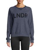 LNDR Logo Crewneck Raglan Sweatshirt