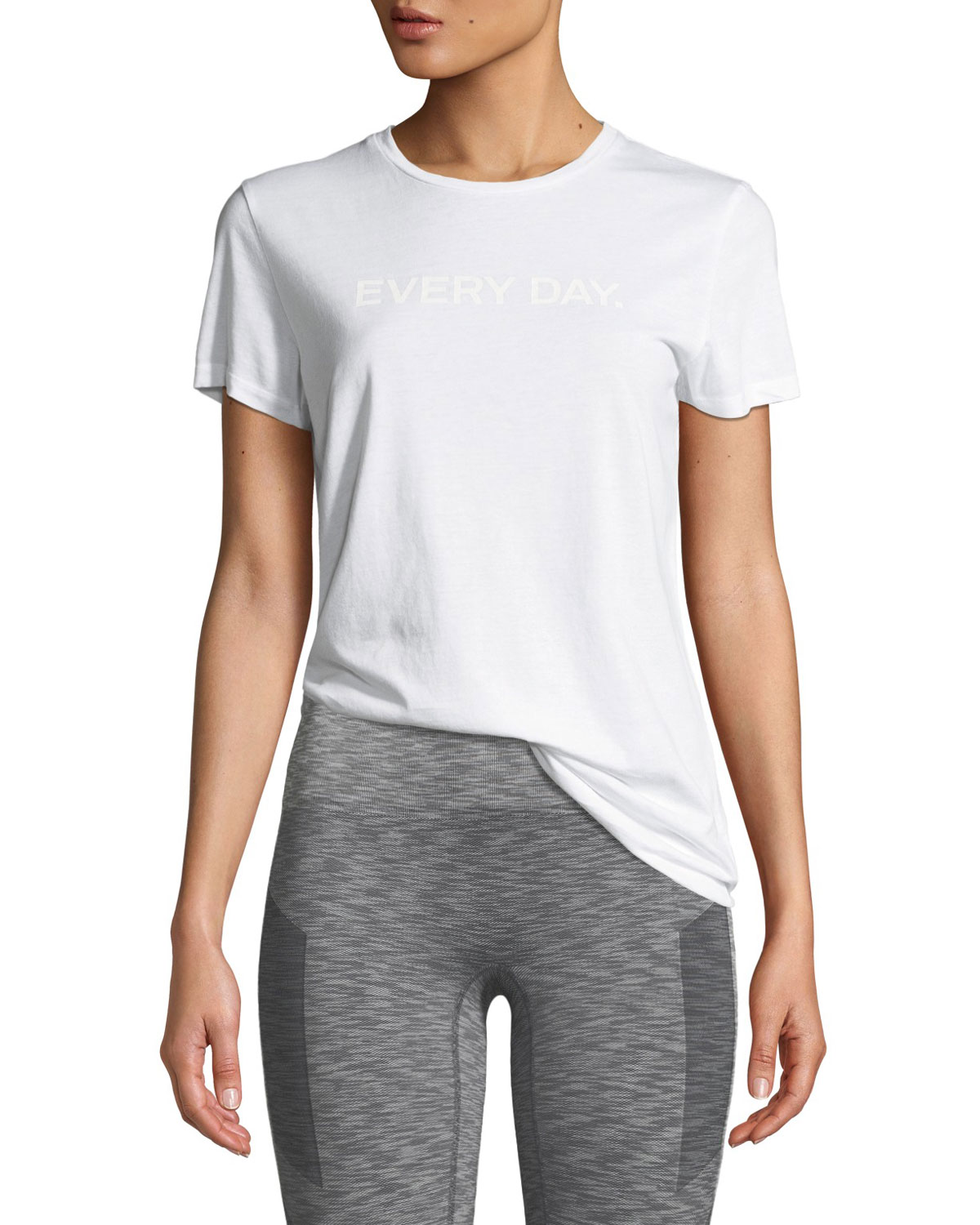 LNDR Every Day Cotton Graphic Tee in White