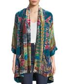 Johnny Was Plus Size Biza Printed Velvet Kimono