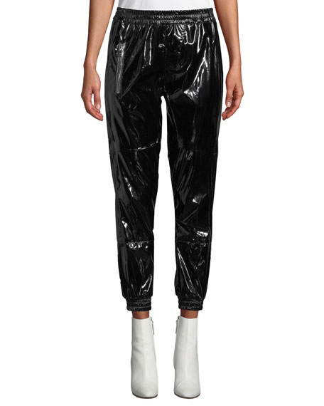 RtA Finn Patent Ankle Track Pants