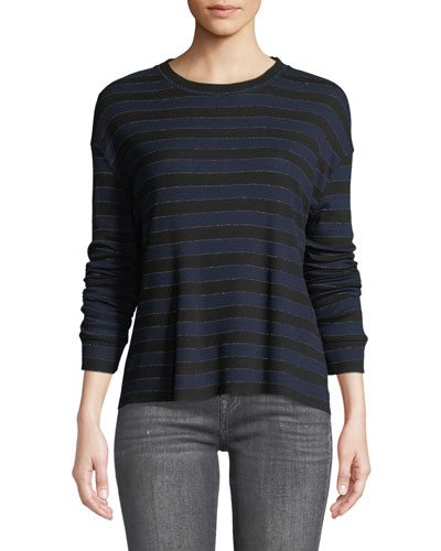 Emmet Long-Sleeve Striped Tee