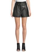3.1 Phillip Lim High-Waist Leather Shorts