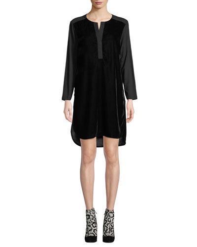 Kenzie Whisper Velvet Dress