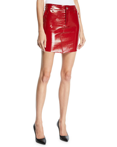 Callie Patent Leather Mini Skirt