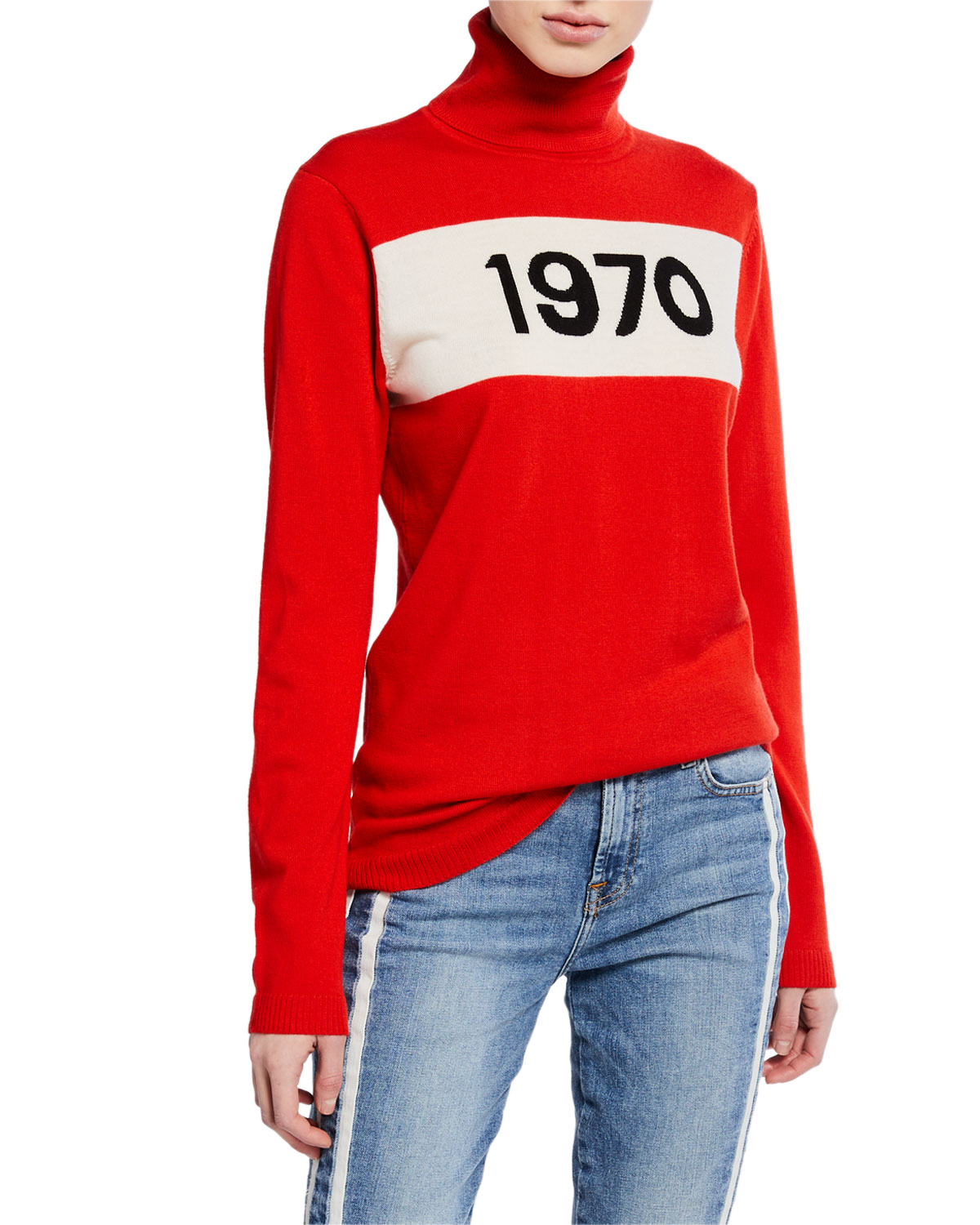 1970 Graphic Wool Pullover Sweater