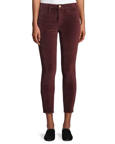 Le Velveteen High-Rise Skinny Jeans