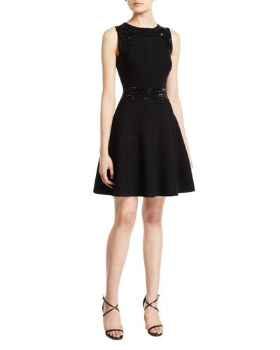 00b8a195f6 Black Embellished Dress