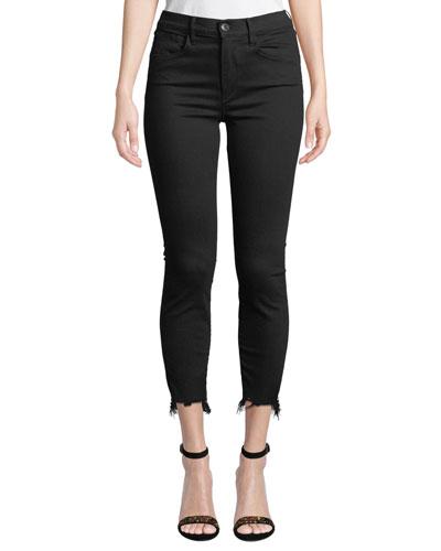W3 Cropped Frayed Skinny Jeans