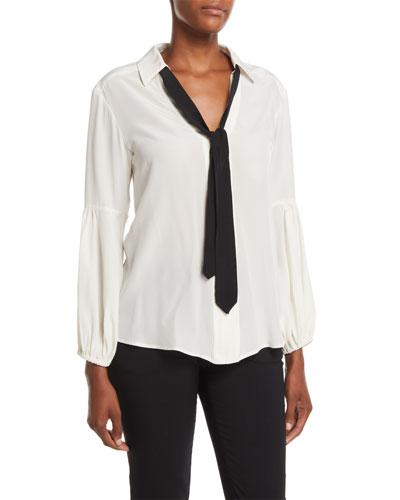 5fbc8ab2886134 Quick Look. Nanette Lepore · Badgirl Silk Top w  Tie