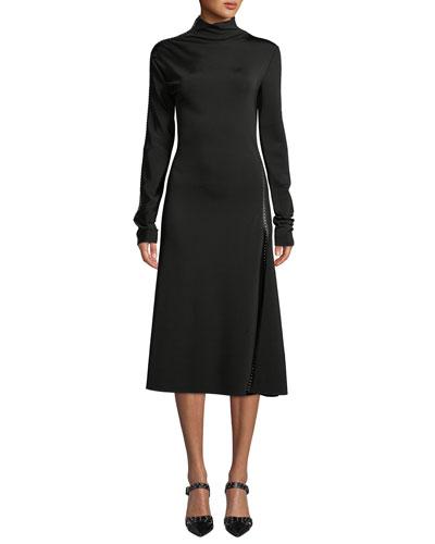 038c4631c6bdcd Nylon Turtleneck Dress