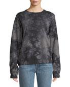 Helmut Lang Tie-Dye Logo Pullover Sweatshirt