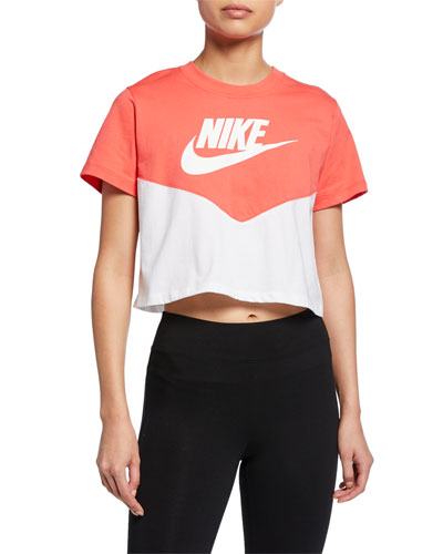 d0c3a905c Quick Look. Nike · Heritage Colorblock Cropped Active Top