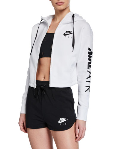 Air Cropped Fleece Active Hoodie