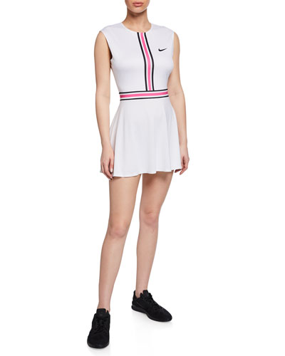 NikeCourt Sleeveless Tennis Dress, White