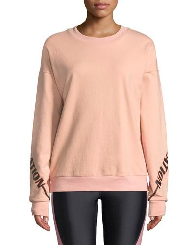 The Half-Run Crewneck Cotton Sweatshirt