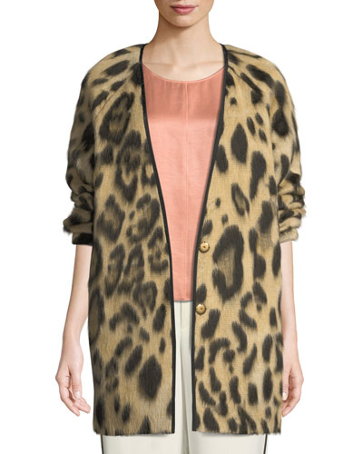 Savana Jacquard Animal-Print Sweater