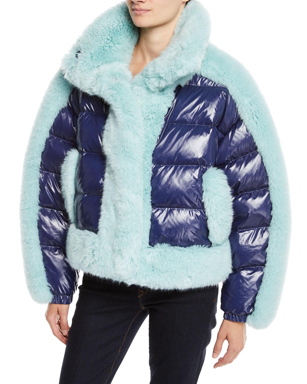 Daydreamer Puffer Jacket w/ Faux Fur Trim
