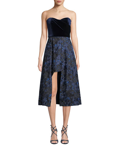Caine Strapless Velvet Dress