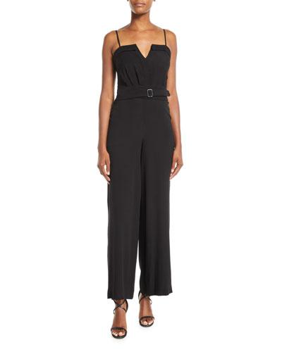3e4ed7b3a28 Belted Black Jumpsuit