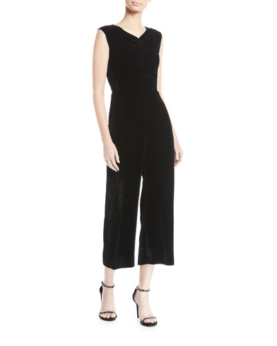 a11f58b836a2 Quick Look. Rebecca Taylor · Ruched Velvet Wide-Leg Jumpsuit
