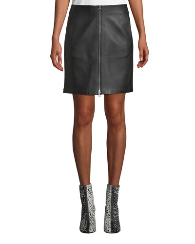 d28ca0f66089 Black Leather Skirt | Neiman Marcus