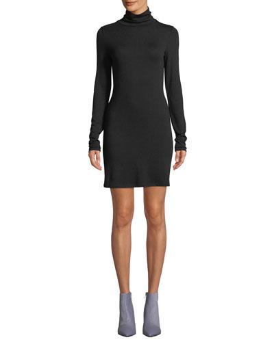 Landon Turtleneck Long-Sleeve Body-con Sweaterdress
