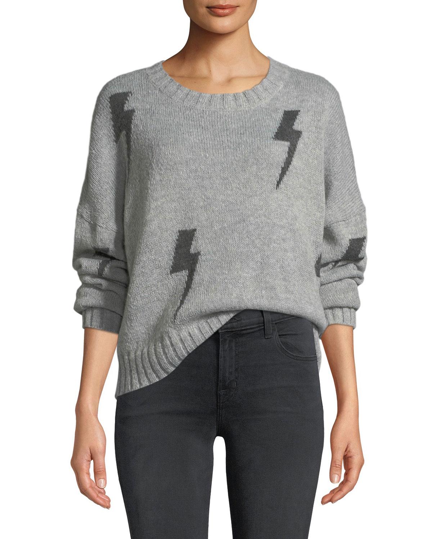 Perci Graphic Crewneck Pullover Sweater