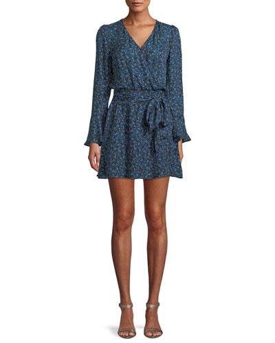ee6dc0b7 Quick Look. Parker · Amanda Floral-Print Silk Tie-Front Dress
